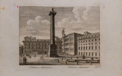 Piazza Colonna, veduta verso ponente