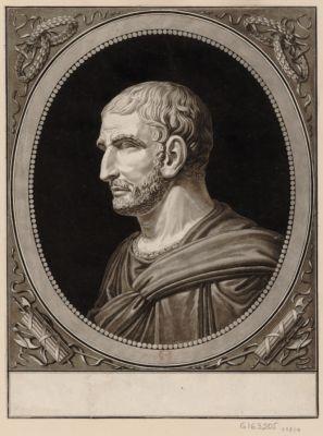 Junius Brutus d'une des premieres familles de Rome vivoit environ 500 ans avant Jesus Christ. Pour se soustraire à la tirannie des Tarquins, il contrefit l'insensé, ... : [estampe]