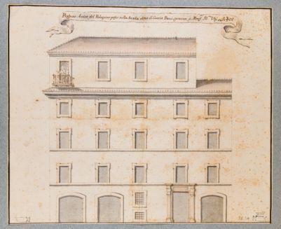 Palazzo Vai in via Caccia Bovi, prospetto