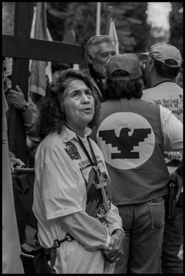 Dolores Huerta after a month-long march
