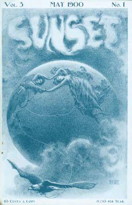 Sunset Magazine cover. May 1900