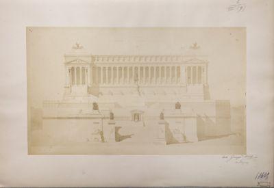 Monumento a Vittorio Emanuele II, prospetto