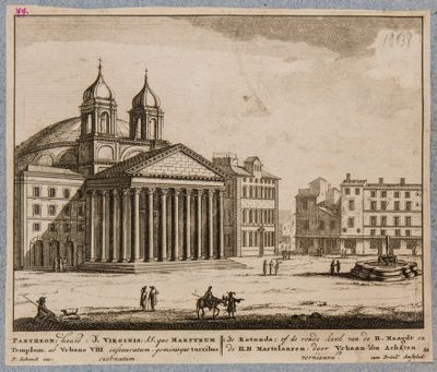 Pantheon, hodie B. Virginis SS. Martyrum Templum ab Urbano VIII instauratum
