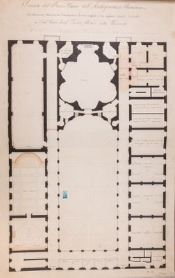 Palazzo della Sapienza. Pianta generale del primo piano