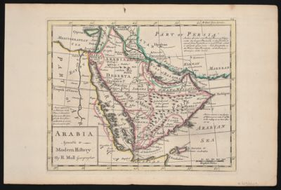 Topographic map of the Arabian Peninsula [cartographic