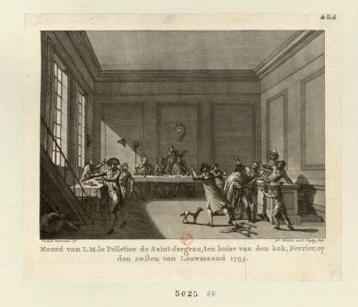Moord van L.M. le Pelletier de Saint-Fargeau [estampe]