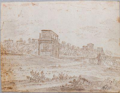 Arco di Costantino, visto di fianco