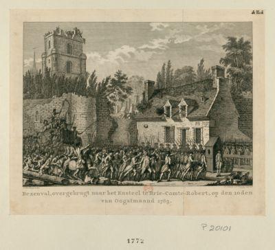 Bezenval, overgebragt naar het Kasteel te Brie-Comte-Robert [estampe]