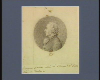 François Xavier Estin né à Rennes le 26 7.bre 1734 député de Touraine : [dessin]