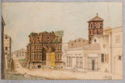 Velabro, il Giano e fronte della Chiesa di S. Giorgio