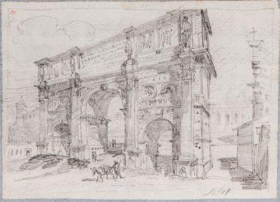 Arco di Costantino, visto di 3/4 da ovest