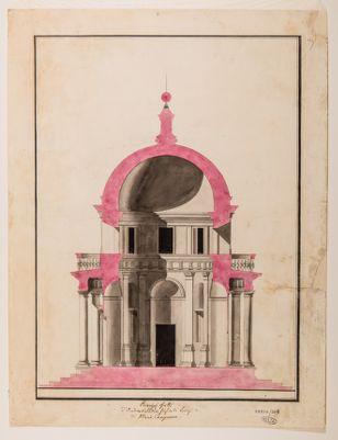 Chiesa di San Pietro in Montorio. Tempietto del Bramante, spaccato