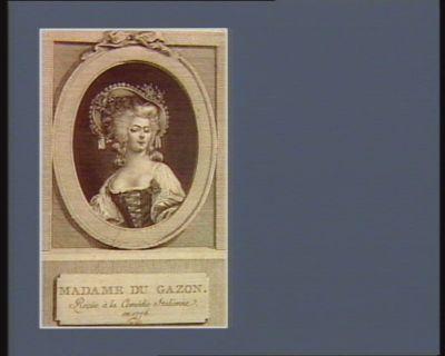 Madame Dugazon reçüe <em>à</em> la Comédie italienne en 1776... : [estampe]