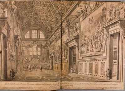 Veduta della Sala Regia del Palazzo Vaticano