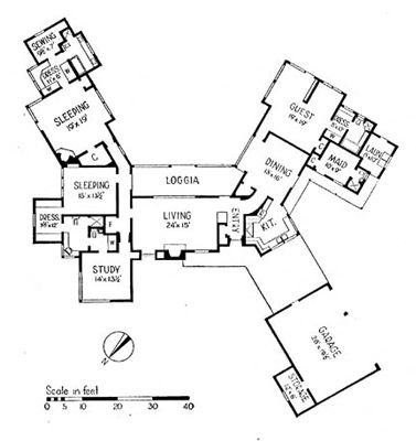 Ranch house floor plan