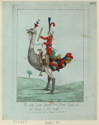 Le  Petit Condé piquant des deux l'autri-iche sur lequel il est monté [estampe]