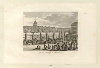 Fête de la fondation de la République 1.er vendemiaire an V : [estampe]