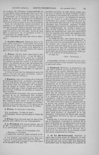 Tome 31 : Du 17 au 30 septembre 1791 - page 79