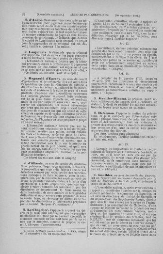 Tome 31 : Du 17 au 30 septembre 1791 - page 92