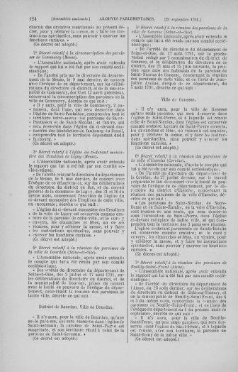Tome 31 : Du 17 au 30 septembre 1791 - page 124