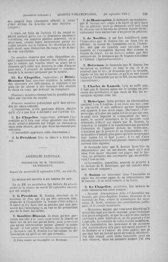 Tome 31 : Du 17 au 30 septembre 1791 - page 149