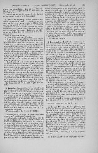 Tome 31 : Du 17 au 30 septembre 1791 - page 239