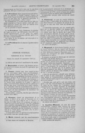 Tome 31 : Du 17 au 30 septembre 1791 - page 265
