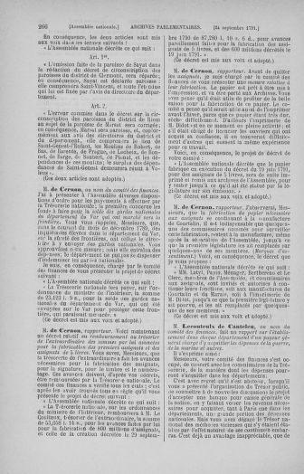 Tome 31 : Du 17 au 30 septembre 1791 - page 266