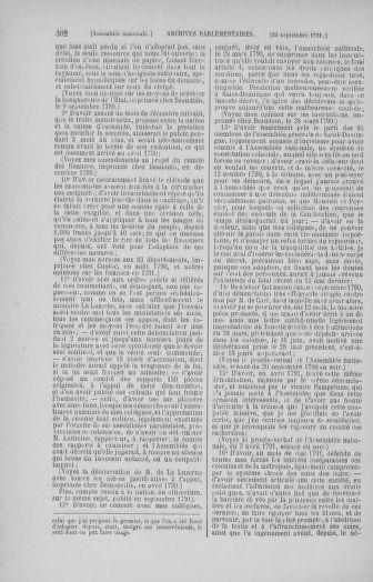 Tome 31 : Du 17 au 30 septembre 1791 - page 302