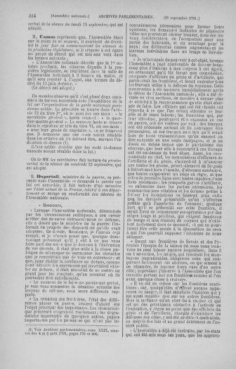 Tome 31 : Du 17 au 30 septembre 1791 - page 314