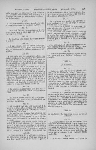 Tome 31 : Du 17 au 30 septembre 1791 - page 327