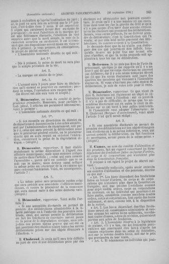 Tome 31 : Du 17 au 30 septembre 1791 - page 343