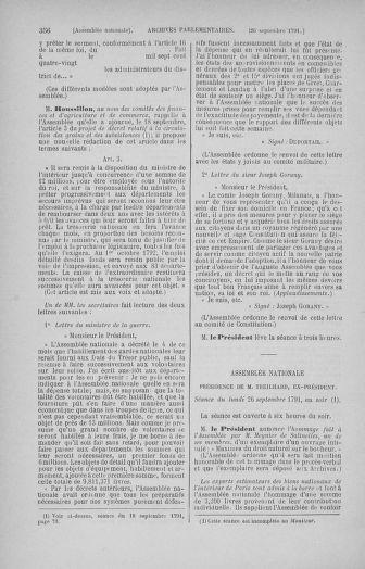 Tome 31 : Du 17 au 30 septembre 1791 - page 356