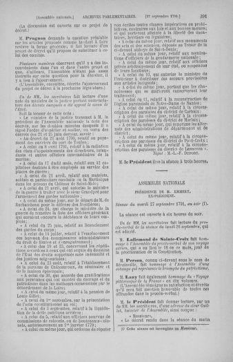 Tome 31 : Du 17 au 30 septembre 1791 - page 391