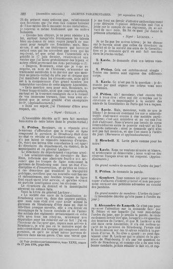 Tome 31 : Du 17 au 30 septembre 1791 - page 392