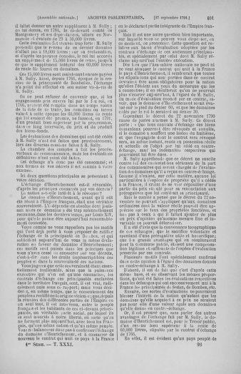 Tome 31 : Du 17 au 30 septembre 1791 - page 401