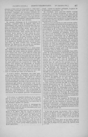 Tome 31 : Du 17 au 30 septembre 1791 - page 407