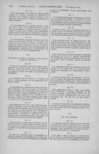 Tome 31 : Du 17 au 30 septembre 1791 - page 422