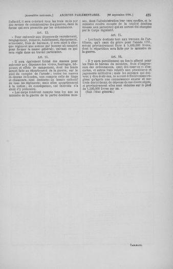 Tome 31 : Du 17 au 30 septembre 1791 - page 425