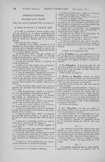 Tome 31 : Du 17 au 30 septembre 1791 - page 538