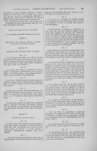 Tome 31 : Du 17 au 30 septembre 1791 - page 539