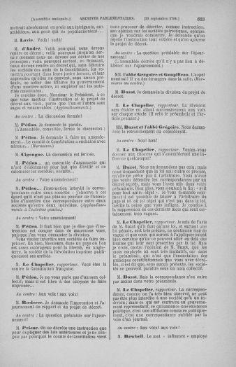 Tome 31 : Du 17 au 30 septembre 1791 - page 623