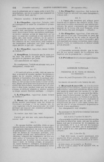 Tome 31 : Du 17 au 30 septembre 1791 - page 624