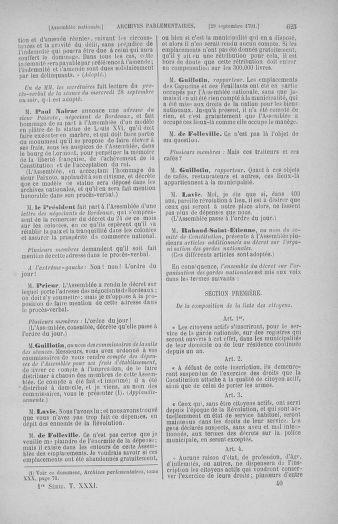 Tome 31 : Du 17 au 30 septembre 1791 - page 625