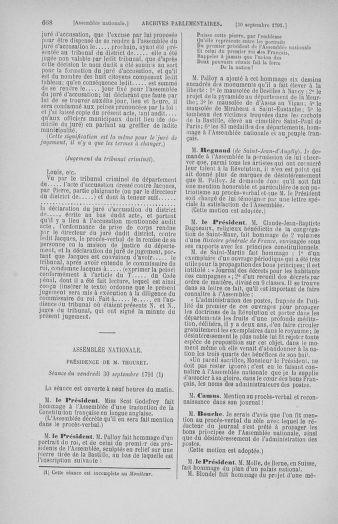 Tome 31 : Du 17 au 30 septembre 1791 - page 668