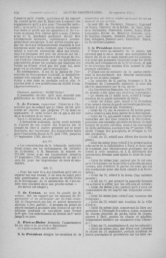 Tome 31 : Du 17 au 30 septembre 1791 - page 678