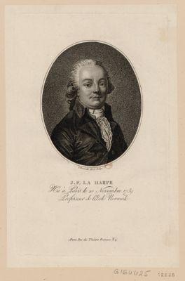 J.F. La Harpe né à Paris le 2 novembre 1739, professeur de l'Ecole normale : [estampe]
