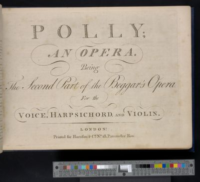 Polly : an opera : being the second part of the Beggar's opera : for the voice, harpsichord, and violin