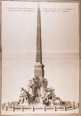 Tabula secunda qua Obelisci Caracallae sev Circis Castrensis ac Fontis Agonalis prospectum a parte orientali ostendi
