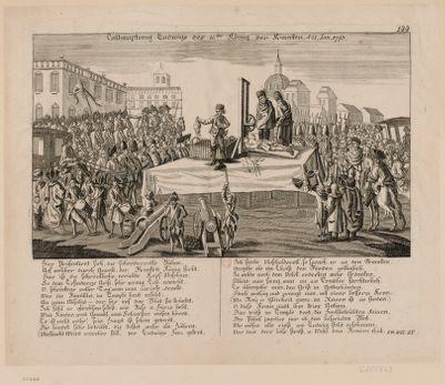 Enthauptung Ludwigs des 16.ten König der Francken d.<em>21</em> Ian <em>1793</em> [estampe]